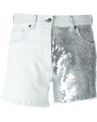 Gaëlle Bonheur - Sequined Leg Short Shorts - Lyst