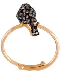Christina Debs - Snail Diamond Ring - Lyst