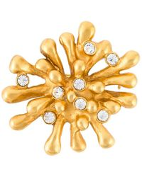 Christian Lacroix - Crystal Embellished Brooch - Lyst