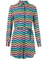 Blue Man - Chevron Shirt Dress - Lyst