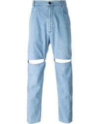 69 - Slit Denim Trousers - Lyst