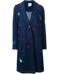 Steve J & Yoni P - Embroidered Denim Coat - Lyst