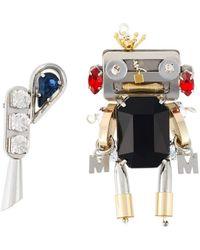 MUVEIL - Robot Brooch - Lyst