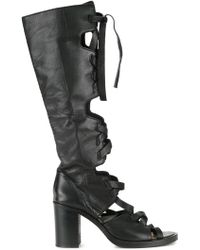Kitx - Laced Open Toe Boots - Lyst