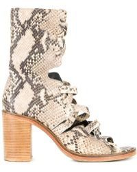 Kitx - Python Effect Cut-out Boots - Lyst