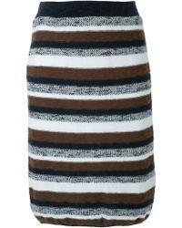 Loveless | Striped Knit Skirt | Lyst