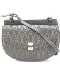 Chloé - Georgia Diamond-Embossed Leather Bag - Lyst