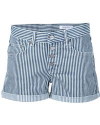 Anine Bing - Striped Boyfriend Shorts - Lyst