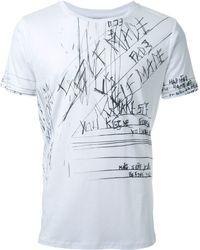 Fad Three - - Notes Print T-shirt - Men - Cotton - S - Lyst