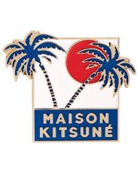 Maison Kitsuné - Palm Tree Pin - Lyst