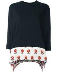 JOUR/NÉ - Jour/né Floral Panel Sweatshirt - Lyst
