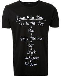 HL Heddie Lovu - Things To Do Printed T-shirt - Lyst