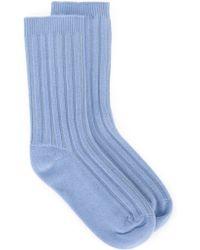 Rochas - Ribbed Socks - Lyst