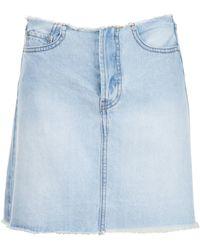 UNIF - 'brit' Denim Skirt - Lyst