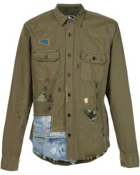PRPS | Distressed Patchwork Shirt | Lyst