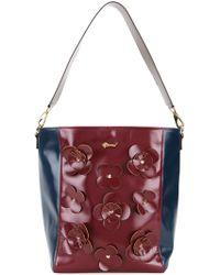 MUVEIL - Flower Appliqué Shoulder Bag - Lyst