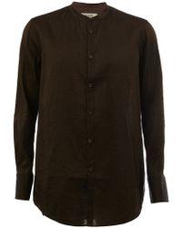 Ziggy Chen - Mandarin Neck Longsleeved Shirt - Lyst