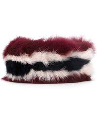 MUVEIL - Fur Belt - Lyst