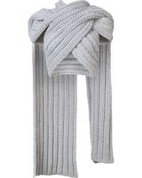 Christian Siriano - Knitted Wrap Scarf - Lyst