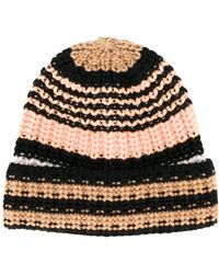 Sonia Rykiel - Striped Knitted Beanie - Lyst