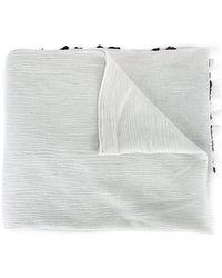 Claudio Cutuli - Embroidered Lace Hem Scarf - Lyst