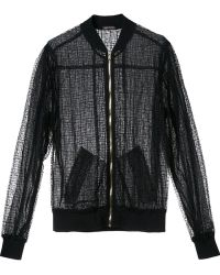 Sophie Theallet - Sheer Bomber Jacket - Lyst