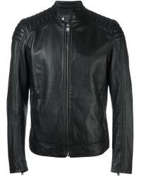 Hydrogen - Zipped Leather Jacket - Lyst