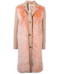 Emilio Pucci - Raccoon Fur Panel Coat - Lyst