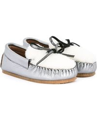 Pepe Jeans - Furry Panel Leather Slippers - Lyst