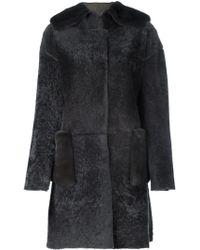 Manzoni 24 | Fur-trimmed Shearling Coat | Lyst