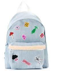 Joshua Sanders - Patch Detail Denim Backpack - Lyst