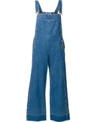 Steve J & Yoni P - Cropped Overalls - Lyst