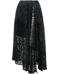 Lala Berlin - Asymmetric Velvet Skirt - Lyst
