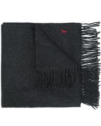 Maison Kitsuné - Maison Kitsuné Embroidered Logo Scarf - Lyst