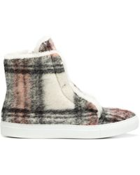 Joshua Sanders - Checked Flat Boots - Lyst