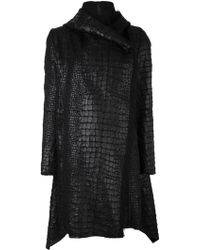 Masnada | Crock Effect Wrap Coat | Lyst