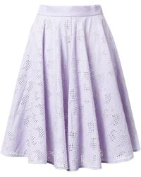 Mikio Sakabe - Floral Embroidered Pleated Skirt - Lyst