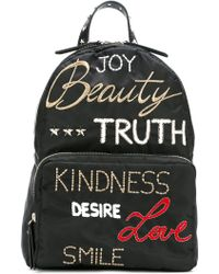 RED Valentino - Embroidered Words Backpack - Lyst
