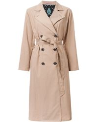 Guild Prime - - Double Breasted Trench Coat - Women - Tencel - 36 - Lyst