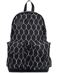 Undercover - ' X Porter' Fence Print Backpack - Lyst