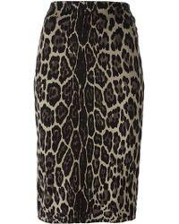 Samantha Sung - Animal Print Pencil Skirt - Lyst