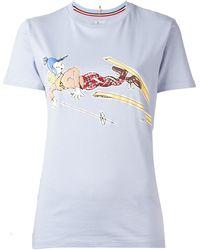 Moncler Grenoble - Front Print T-shirt - Lyst