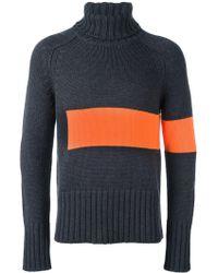 Wooster + Lardini   Colour Block Knit Rollneck   Lyst