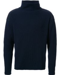 Factotum | Ribbed High Neck Jumper | Lyst