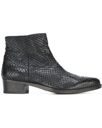 HTC Hollywood Trading Company - Scaled Ankle Boots - Lyst