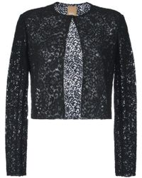 Pascal Millet - Semi-sheer Floral Lace Cropped Jacket - Lyst
