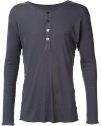 Greg Lauren - Henley T-shirt - Lyst
