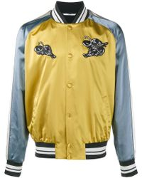 Valentino - Panther Appliqué Bomber Jacket - Lyst