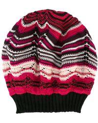 M Missoni - Striped Beanie - Lyst