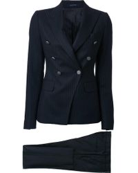 Tagliatore - Pinstripe Double Breasted Suit - Lyst